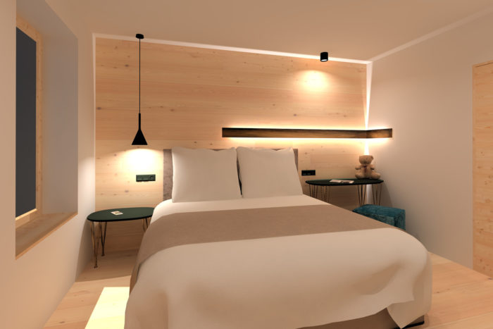 Schlafzimmer Alpinlodge
